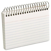 Oxford 40282 Spiral Index Cards, 3 x 5, 50 Cards, White