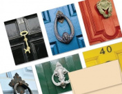 Door Knockers - 36 Note Cards for $9.99 - 6 Different Designs Including Ivory Envelopes.