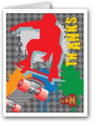 Skateboarding Thank You Note Card - 10 Boxed Cards & Envelopes