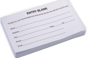 Displays2go 13cm x 7.1cm Entry Form Pads for Raffles, Set of 10 & 1,000 Drawing Forms