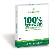 Printworks 100 Percent Recycled Multipurpose Paper, 9.1kg, 92 Bright, 400 sheets, 22cm x 28cm
