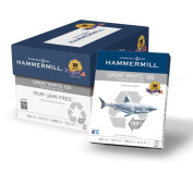Hammermill Great White 100% Recycled Copy Paper, 9.1kg, 22cm x 28cm , 92 Bright, 5000 Sheets/10 Ream Case
