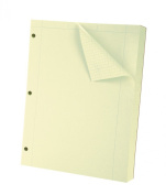 Oxford Engineering Computation Filler Paper, Greentint, 3-Hole Punched, Letter Size, 5 square inch ruling, 500-Sheets