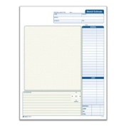 Adams Grid Sketch Book, Carbonless, 21cm x 29cm , White and Canary, 2-Part, 25 Sets