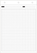 Day-Timer Magna Pad Refills, Graph Pages, 22cm x 30cm , Set of 2 Pads