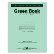 Roaring Spring - Green Books Exam Books, Stapled, Wide Rule,11 x 8 1/2, 8 Sheets/16 Pages 77509 (DMi EA