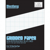 Bienfang Designer Grid Paper, 50 Sheets, 22cm by 28cm Pad, 8 by 8 Cross Section