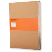 Moleskine Cahier Journal (Set of 3), Large, Ruled, Kraft Brown, Soft Cover (5 x 8.25)