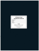 National Brand Laboratory Notebook, 5 X 5 Quad, Black, White Paper, 28cm x 22cm , 60 Sheets