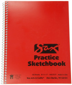Sax Spiralbound Practise Sketchbook - 22cm x 28cm - 50 Sheets per Pad - White