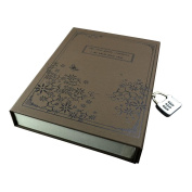 Vintage Coffce Diary Notebook Journal Notepad Hard Cover With Code Lock Gift Box Black
