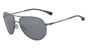 Nike EV0634-904 Vintage MDL 82 Sunglasses (One Size), Gunmetal/Navy, Grey with Silver Flash Lens