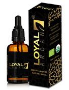 Loyal Argan 100% Organic Argan Oil 50ml for Dry Skin, Wrinkles, Shiny Hair & Nails EcoCert & USDA Certified Premium Quality Authentic Argan Oil from Morocco