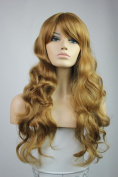 Long Curly Party Christmas Cosplay Halloween Wigs Like Real Human Hair Wigs