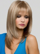 Beauty Smooth Hair Sexy Ladies Long Straight Layers Light Blonde Hair Wig LC79