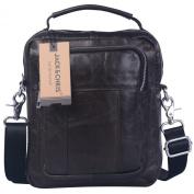 Jack & Chris®Men's Genuine Leather Messenger Cross Body Bag Sling Bag Small Bag,JN8801