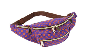 Haute For Diva's New Womens Holiday Canvas Denim Aztec Flower Floral Polka Dot Fanny Pack Travel Bum Bags Grunge