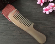 Meta-C Natural Handmade Sheep Horn Comb with Round Handle