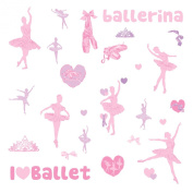RoomMates RMK1656SCS Ballet Peel & Stick Wall Decals w/Glitter