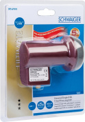 Schwaiger extremely heat resistant SUN Protect Single LNB Brick Red