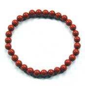 Red Jasper Sphere Bracelet 6 mm
