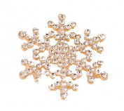 SCORPIUS GIFTS Quality Crystal Rhinestone ' Snowflake ' Fashion Brooch In Free Organza Gift Bag