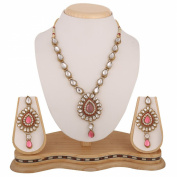 Festive pink kundan like work Indian bollywood necklace jewellery set b160lpb160lp