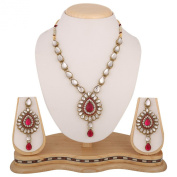 Rani pink kundan like work Indian bollywood necklace jewellery set b160mb160r