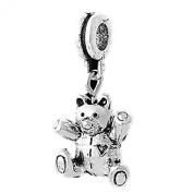 Charm Buddy Teddy Bear Heart Pendant Charm Fits Silver Pandora Style Bracelets Charms Girls Jewellery