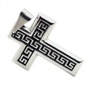 Pendant Cross Crucifix for Chain Necklace Gothic Tribal Man Woman Jewellery Silver-Black-Colour Stainless Steel