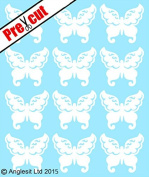PRE-CUT WHITE VINTAGE BUTTERFLIES EDIBLE RICE / WAFER PAPER CUP CAKE TOPPERS WEDDING BIRTHDAY PARTY DECORATIONS