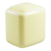InterDesign Una Vanity Waste Can, Lemon