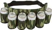 SHENNOSI® Beer & Soda Can Holster Belt Holds 6 Beverages