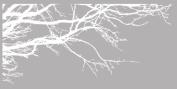Innovative Stencils 1130 100 mwhite Tree Top Branches Wall Decal Vinyl Sticker, 250cm x 110cm , White