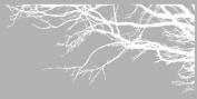 Innovative Stencils 1130 100 mwhite mirror Tree Top Branches Wall Decal Vinyl Sticker, 250cm x 110cm , White