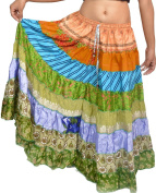 Wevez Women's Pack Of 5 Tribal Style 7-Layer Skirt