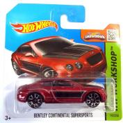 Hot Wheels Bentley Continentals Supersports darkred metallic 1:64