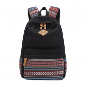 S-ZONE Vintage Aztec Tribal Unisex Canvas Backpack Rucksack 36cm - 38cm Laptop School Bags Travel Weekend Bag