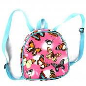 Child's Pink PVC RUCKSACK / BACKPACK - Butterflies Design - Early Years RUCKSACK