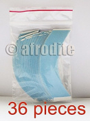 Blue Liner CC Contour Adhesive Tape Strips 36 Pack - Lace Wigs & Toupees