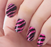 Nail Art Stickers Decals With Animal Prints (Zebra) Nail Sticker Tattoo - FashionLife