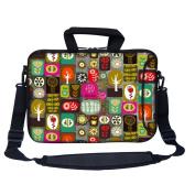 Meffort Inc 33cm Neoprene Laptop Bag with Extra Side Pocket, Soft Carrying Handle & Removable Shoulder Strap for 12.5 to 34cm Size Chromebook Ultrabook