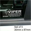 5 x VIPER Alarm and GPS Tracking Device Security WINDOW Stickers 87x30mm-Car,Van Warning Tracker Signs