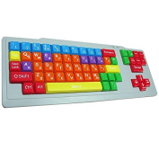 Playlearn Special Needs Children's Computer USB Keyboard - UPPER CASE & LOWER CASE - Colour Coded SEN