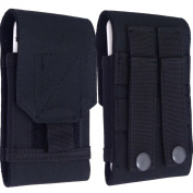 Black Universal Army Camo Camouflage Cordura Tactical Belt Loop Hip Holster Pouch hook and loop Case Mobile Phone Cover For Nokia Lumia HTC One X M8 M2 Blackberry Bold Curve 9220 9320 Apple iPhone 4s 4 5c 5c for  for  for  for  for  for  for  for  for Sam