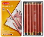 Derwent Coloured Drawing Pencils, 5mm Core, Metal Tin, 12 Count