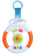 Baby steering wheel with sounds and light