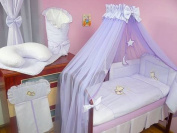 Lux4Kids Children bedding bed set 135x100 nest changing mat sky including rod Mobile pillows fitted paints 08 Purple Moon