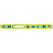Infoband Single Use I.D. Travel Wrist Band for Kids Pk. of 10 - Fish Green