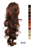 Prettyland - 60cm Ponyteil Volume curly Fashionable Clip in Hair Piece Extension- R06